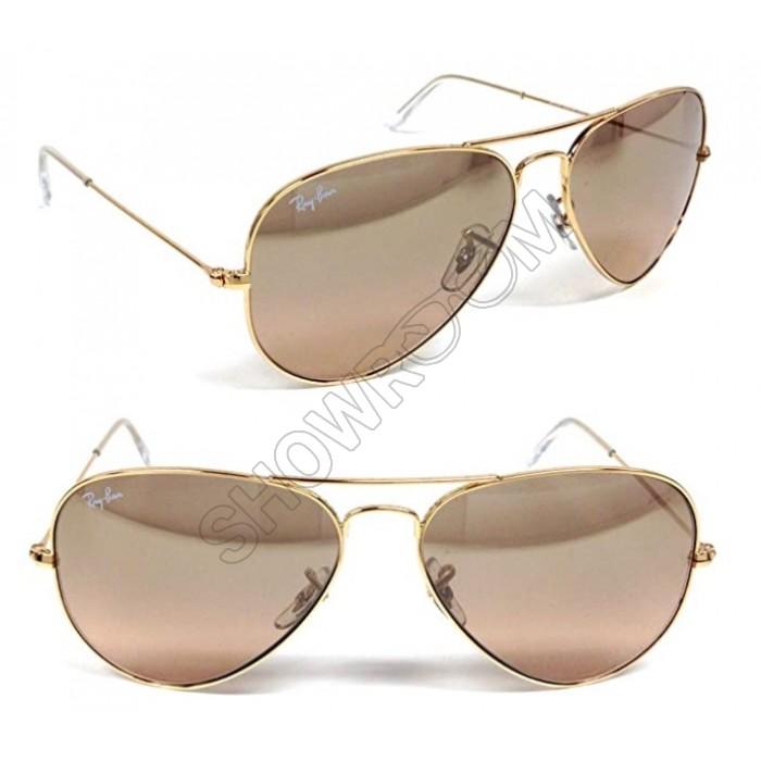 Мужские солнцезащитные очки RAY BAN aviator 3026 (001/3E) Lux