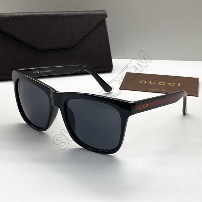 Мужские стильные солнцезащитные очки (0057) black