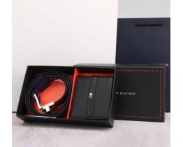 Мужской подарочный набор ремень и портмоне (059)