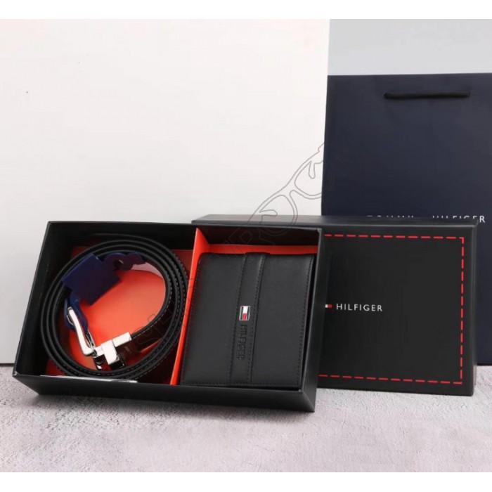 Мужской подарочный набор ремень и портмоне (061)