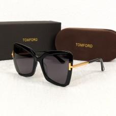 Брендовые женские солнцезащитные очки TF (0766) black Lux