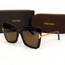 Брендові жіночі сонцезахисні окуляри TF (0766) brown Lux