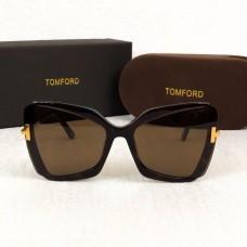 Брендовые женские солнцезащитные очки TF (0766) brown Lux