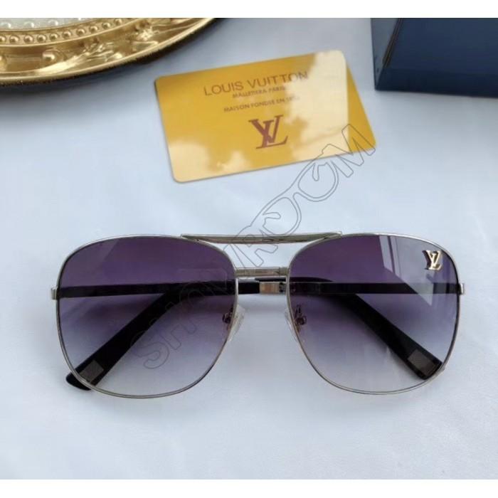 Женские модные солнцезащитные очки (0866) silver LUX