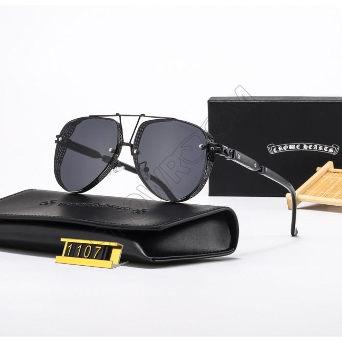 Мужские солнцезащитные очки Chrome Hearts (1107) black
