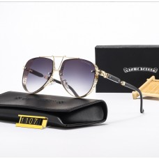 Мужские солнцезащитные очки Chrome Hearts (1107) gold