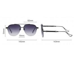 Чоловічі окуляри від сонця Chrome Hearts KLX118 black