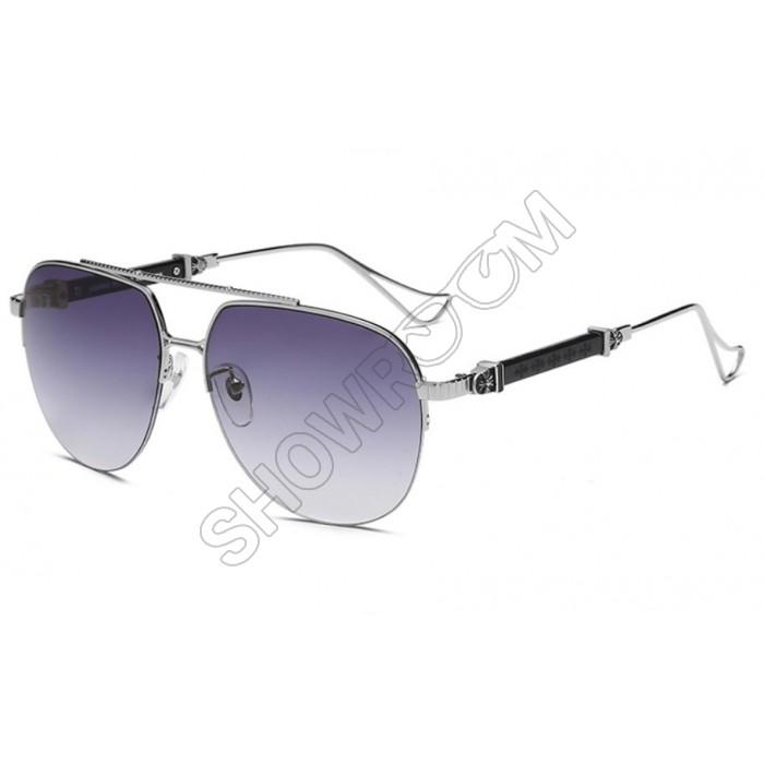 Мужские очки от солнца Chrome Hearts KLX118 silver