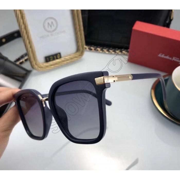 Женские брендовые солнцезащитные очки (1219) blue