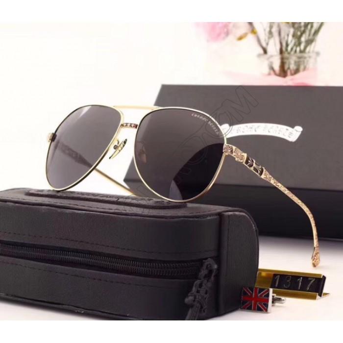 Мужские солнцезащитные очки Chrome Hearts (1317) gold
