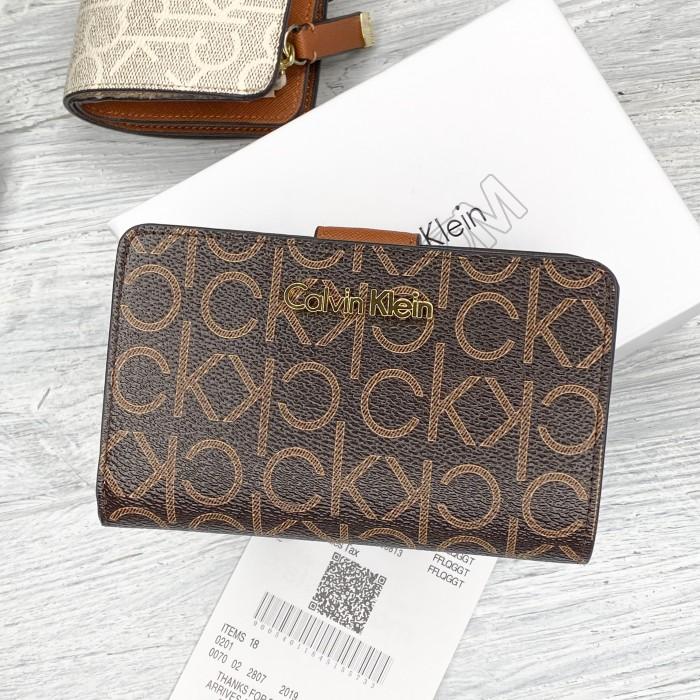 Небольшой женский кошелек Ck (13833) brown
