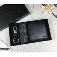 Мужское брендовое кожаное портмоне (1397) black
