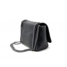 Женская итальянская сумка Vera Pelle (144320) кожаная черная