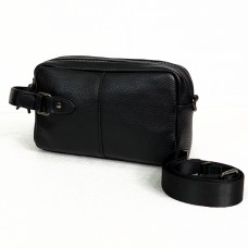Чоловіча вмістка шкіряна барсетка-сумка (146-4)