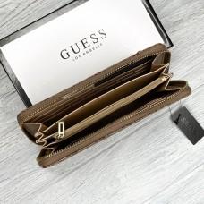 Женский кожаный кошелек на молнии Guess (1859) beige