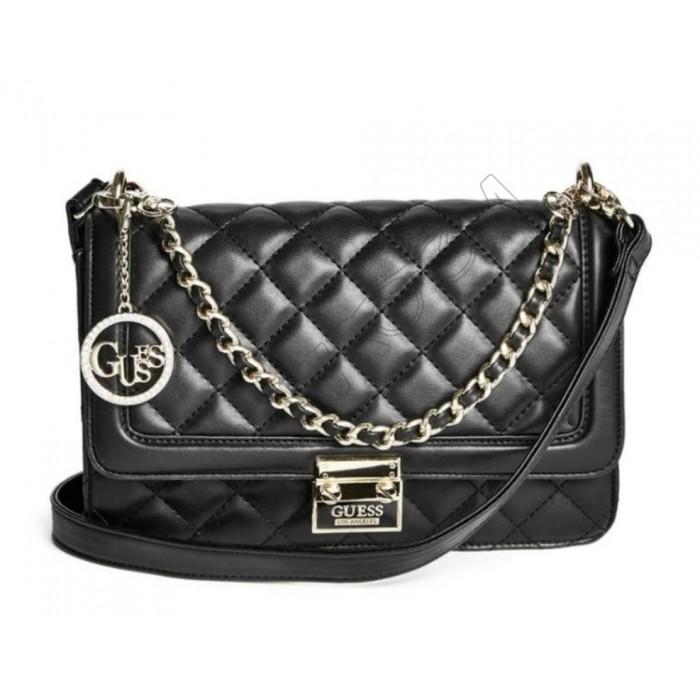Женская брендовая сумка Guess (19040) черная