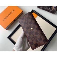 Женский вместительный кошелек Louis Vuitton (20005-1) brown
