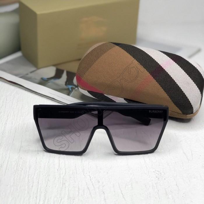 Женские брендовые солнцезащитные очки маска (2020) black