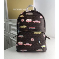 Жіночий шкіряний брендовий рюкзак Michael Kors 2021-1 (car) Lux