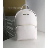Женский кожаный брендовый рюкзак Michael Kors 2021 white-rose Lux