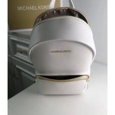 Жіночий шкіряний брендовий рюкзак Michael Kors 2021 white-rose Lux