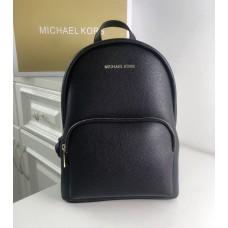 Жіночий шкіряний брендовий рюкзак Michael Kors 2021 Black Lux