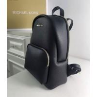 Женский кожаный брендовый рюкзак Michael Kors 2021 Black Lux
