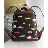 Женский кожаный брендовый рюкзак Michael Kors 2021-1 (car) Lux