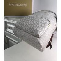 Женский кожаный брендовый рюкзак Michael Kors 2021-1 white Lux