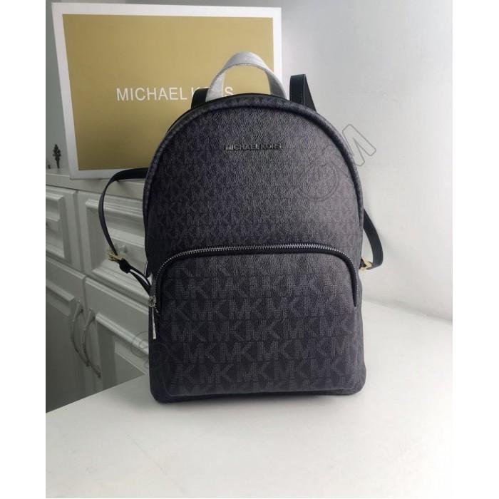 Женский кожаный брендовый рюкзак Michael Kors 2021 Grey Lux