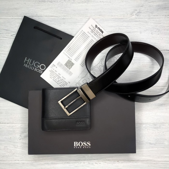 Мужской подарочный набор ремень и портмоне (211), подарочный набор