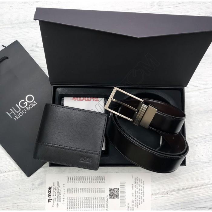 Мужской подарочный набор ремень и портмоне (211)