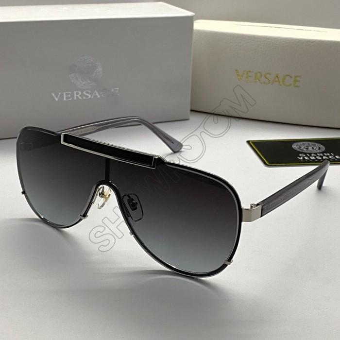 """Брендовые солнцезащитные очки """"маска"""" V-2140 LUX grey"""