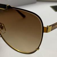 """Брендовые солнцезащитные очки """"маска"""" V-2140 LUX brown"""