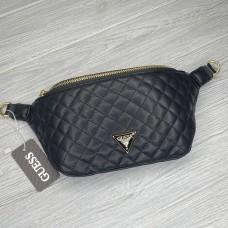 "Женская поясная сумка ""бананка"" (21926) black"