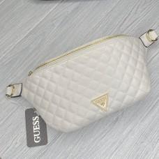 """Женская поясная сумка """"бананка"""" (21926) white"""