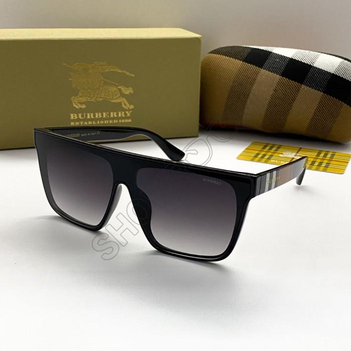Женские брендовые солнцезащитные очки маска (2281) black