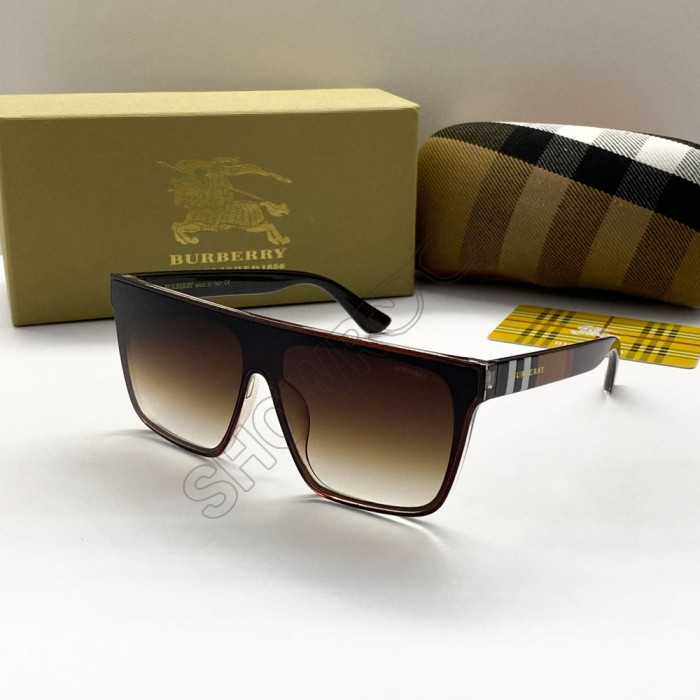Женские брендовые солнцезащитные очки маска (2281) brown