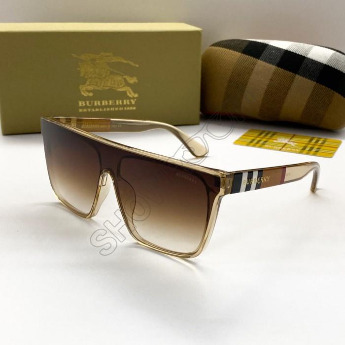 Женские брендовые солнцезащитные очки маска (2281) beige