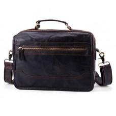 Чоловіча шкіряна сумка на плече Wild Collection (261)