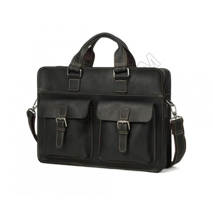 Кожаная мужская сумка портфель Wild Leather (262)