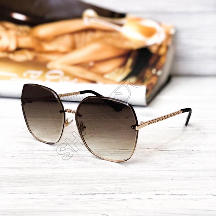 Женские стильные солнцезащитные очки (2655) brown