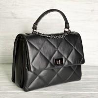 Женская итальянская сумка Laura Biaggi (278) black кожаная