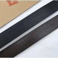 Кожаный мужской ремень Levis (3004) black, подарочный набор