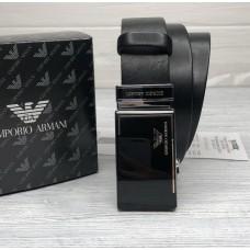Чоловічий шкіряний ремінь з пряжкою автомат (310) чорний