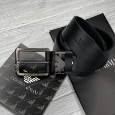 Чоловічий шкіряний брендовий ремінь для джинсів (311) чорний