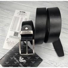 Чоловічий шкіряний брендовий ремінь для джинсів (314) чорний