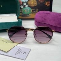 Жіночі круглі сонцезахисні окуляри GG (3322) purple