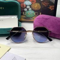 Жіночі круглі сонцезахисні окуляри GG (3322) blue