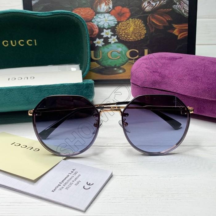 Женские круглые солнцезащитные очки GG (3322) blue